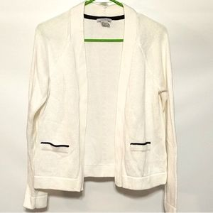 H&M White sweater cardigan Medium